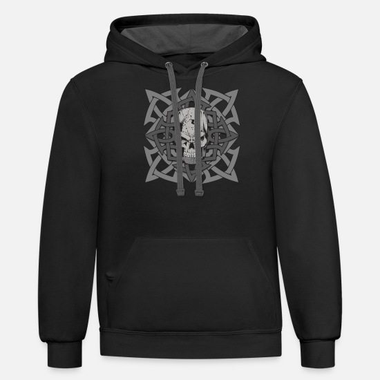 Greek Hoodies & Sweatshirts - Giant Greek Mythology - Unisex Two-Tone Hoodie black/asphalt