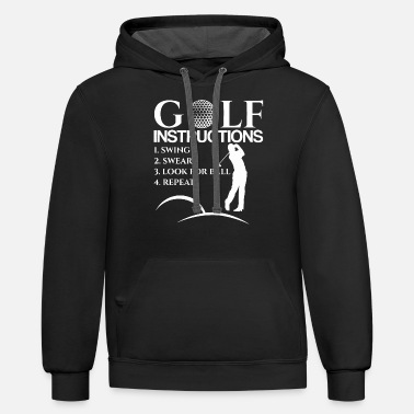 Golf Golf Instructions - Unisex Two-Tone Hoodie