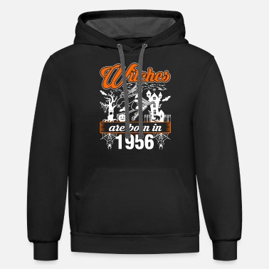 Born In 1956 Witches are Born in 1956 - Unisex Two-Tone Hoodie