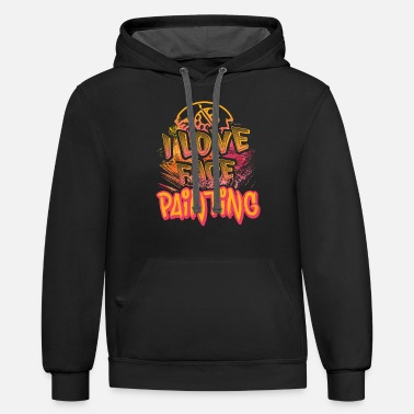 Painting I LOVE FACE PAINTING SHIRT - Unisex Two-Tone Hoodie