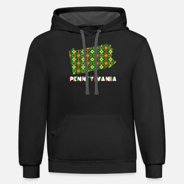 Cinco De Mayo United States Cinco De Mayo Pennsylvania - Unisex Two-Tone Hoodie
