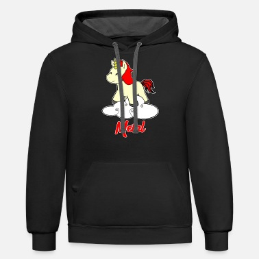 Metal Music Metal Unicorn - Unicorn - Metal - Music - Unisex Two-Tone Hoodie
