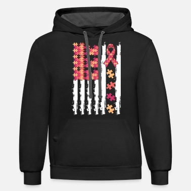Autism Masks Autism Awareness Colorful Flag - Unisex Two-Tone Hoodie