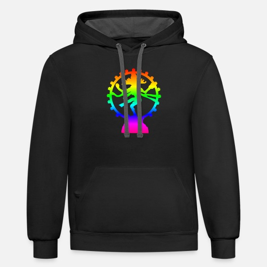 Ireland Hoodies & Sweatshirts - Rainbow Shiva - Unisex Two-Tone Hoodie black/asphalt