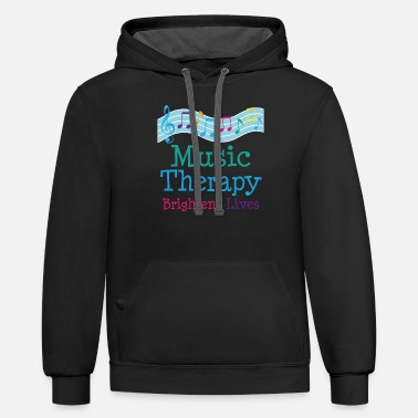 Music Therapy Music Therapist Musical Therapy - Unisex Two-Tone Hoodie