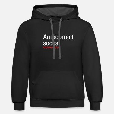 Mobile Phone Autocorrect Socks text message SMS Smartphone - Unisex Two-Tone Hoodie