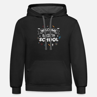 WELCOME BACK TO SCHOOL - Unisex Two-Tone Hoodie