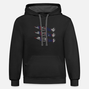 Three Spitfire British Warplanes - Unisex Two-Tone Hoodie