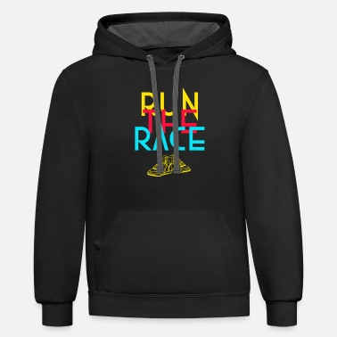 Running Race Run the race - Unisex Two-Tone Hoodie