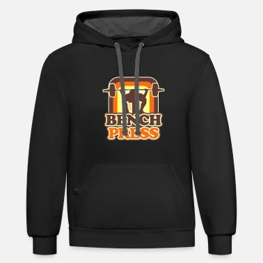 Bench Press Bench Press - Unisex Two-Tone Hoodie