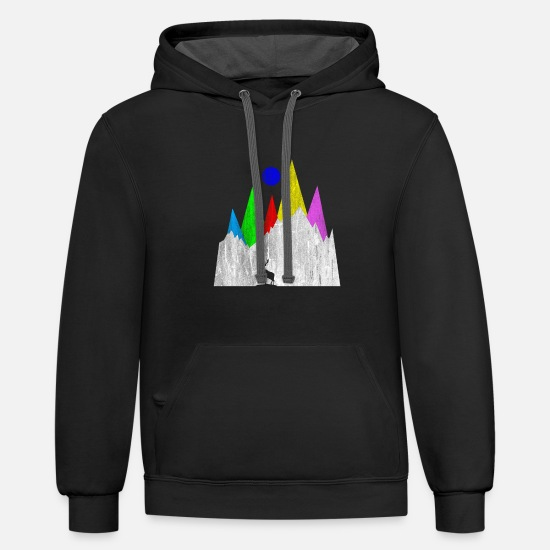 Gift Idea Hoodies & Sweatshirts - Hiking Hobby - Unisex Two-Tone Hoodie black/asphalt