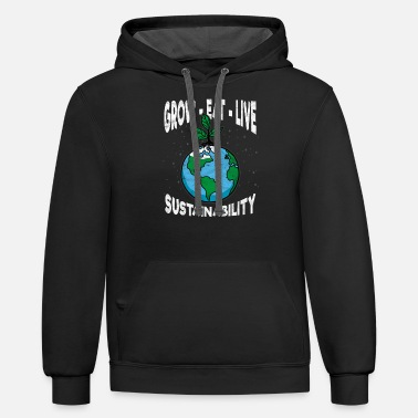 Sustainable Grow Eat Live Sustainability - Unisex Two-Tone Hoodie