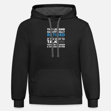 Farewell The Legend Has Officially Retired Retirement Gift - Unisex Two-Tone Hoodie