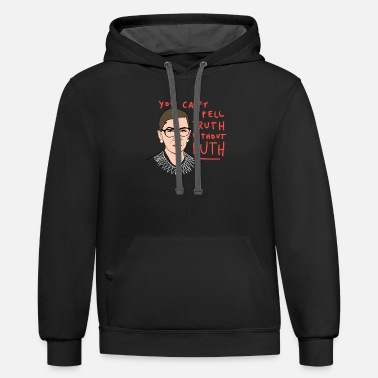 The Ruth Will Set You Free RBG you cant spell truth without ruth - Unisex Two-Tone Hoodie