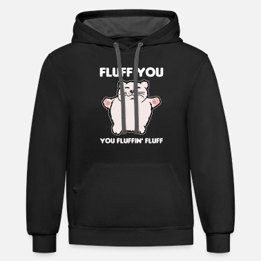 Fluffy Fluffy cat - Unisex Two-Tone Hoodie