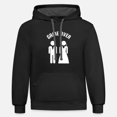 Bachelor Game Over Bachelor Party - Unisex Two-Tone Hoodie