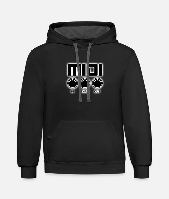 Instruments Hoodies & Sweatshirts - Midi Black - Unisex Two-Tone Hoodie black/asphalt