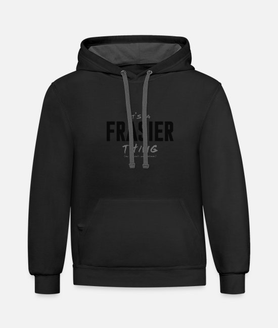 Keep Calm Hoodies & Sweatshirts - Frasier - Unisex Two-Tone Hoodie black/asphalt