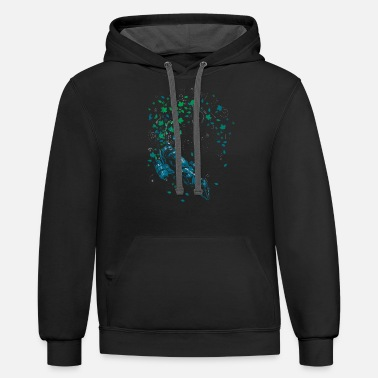 Leaf On The Wind v - Unisex Two-Tone Hoodie