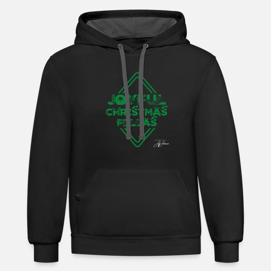 Christmas Carols Hoodies & Sweatshirts - Joyful christmas - Unisex Two-Tone Hoodie black/asphalt