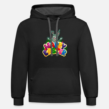 Easter Happy Easter - Unisex Two-Tone Hoodie