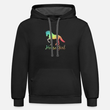 Horse Fan Horse Gril Riding Rider Animals Horse Fan Love - Unisex Two-Tone Hoodie