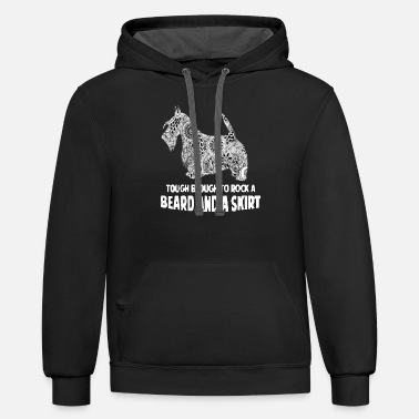 Skirt beard and a skirt - Unisex Two-Tone Hoodie