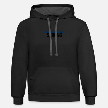 Line thin line blue strong black - Unisex Two-Tone Hoodie