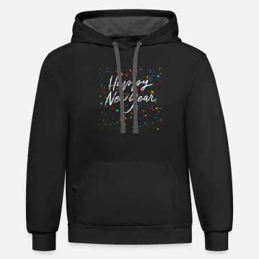 New Year Happy New Year - Unisex Two-Tone Hoodie