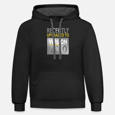 Fun 20th Birthday Recently Upgraded to Version - Unisex Two-Tone Hoodie