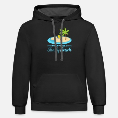 Holidaymaker Nobody likes a shady beach - Unisex Two-Tone Hoodie