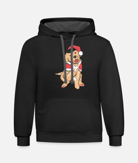 Dog Owner Hoodies & Sweatshirts - Merry Christmas for dog Lover - Unisex Two-Tone Hoodie black/asphalt