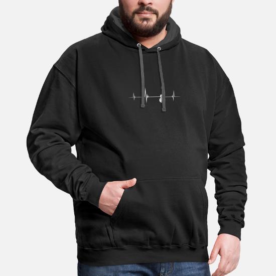 Mens Hoodies Tie Dye Guitar Heartbeat Fashion Pullover Hooded Print Sweatshirt Jackets