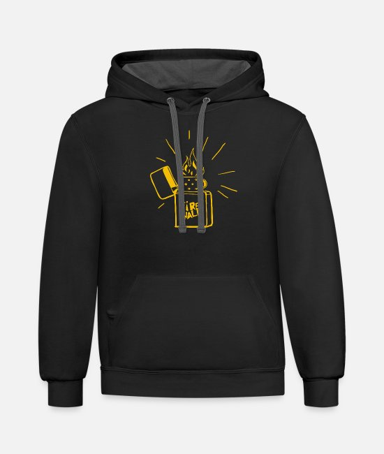 Mood Hoodies & Sweatshirts - FIREWALK - Unisex Two-Tone Hoodie black/asphalt