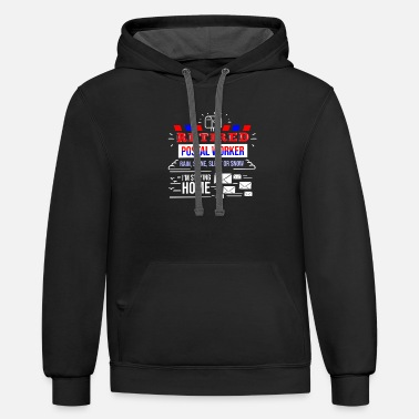 Post Retirement Post Office Retired Postal Worker Gift - Unisex Two-Tone Hoodie
