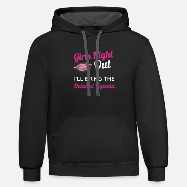 Girls Night Out Funny Bachelorette Girls Night Out Weekend Detailed Agenda - Unisex Two-Tone Hoodie