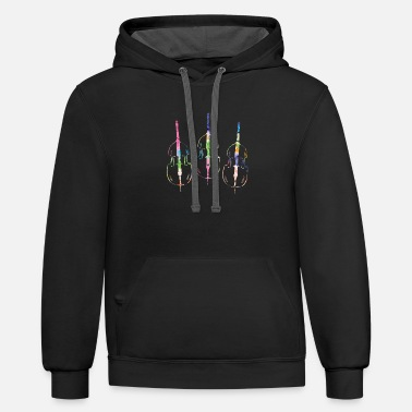 Piece Of Music Cello Piece of Music - Unisex Two-Tone Hoodie