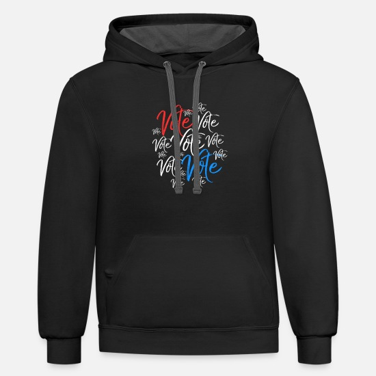 Vote Hoodies & Sweatshirts - Vote Vote Vote Election Rally Vote - Unisex Two-Tone Hoodie black/asphalt