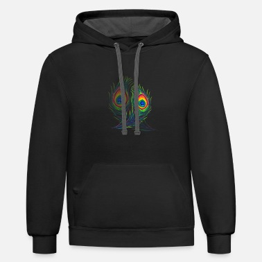 cool feather - Unisex Two-Tone Hoodie