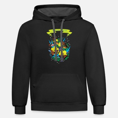 Butterfly3 - Unisex Two-Tone Hoodie