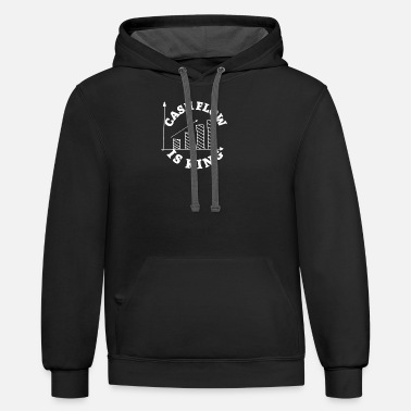 Stock Exchange Cashflow is king - Trader Shares Stock Exchange - Unisex Two-Tone Hoodie