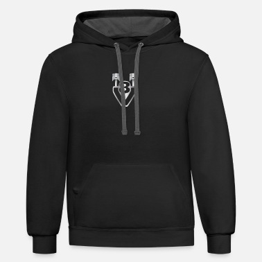 Mechanic V8 - engine, displacement, tuning - Unisex Two-Tone Hoodie