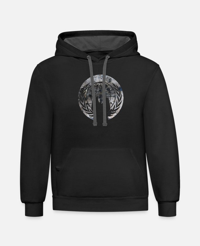 Anon Hoodies & Sweatshirts - Anonymous - Unisex Two-Tone Hoodie black/asphalt