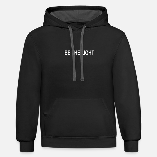 Lighthouse Hoodies & Sweatshirts - BE THE LIGHT - Unisex Two-Tone Hoodie black/asphalt