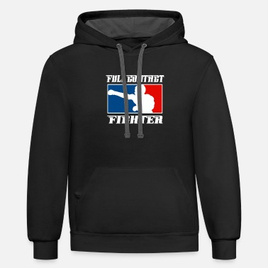 Fighter MMA Full Contact - Unisex Two-Tone Hoodie