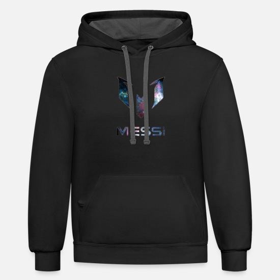 Galaxy Hoodies & Sweatshirts - Lionel Messi Galaxy Logo - Unisex Two-Tone Hoodie black/asphalt
