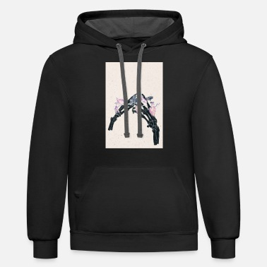 Botany Blossoming Bones #3 - Two Hands Touching - Unisex Two-Tone Hoodie
