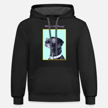 Occassionally What's up Dawg! Funny Dog Lover Graphic Shirt - Unisex Two-Tone Hoodie