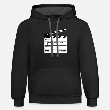 Script clapperboard (writable flex) - Unisex Two-Tone Hoodie