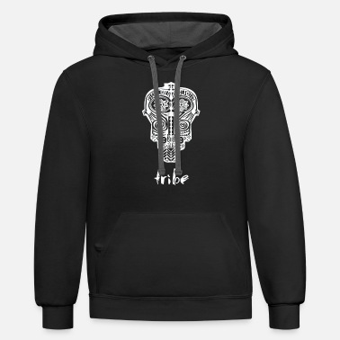 Tribe (Aztec in White) - Unisex Two-Tone Hoodie